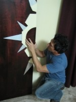 Lee Snijders builds a room divider