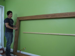 Lee Snijders of HGTV builds guitar frame